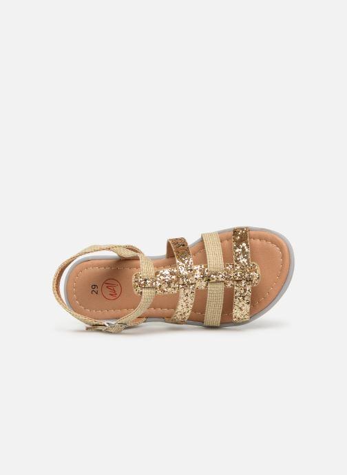 Sandalias NA! Five Oro y bronce vista lateral izquierda