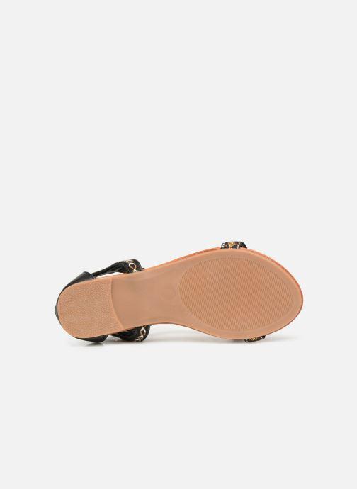 Sandales et nu-pieds NA! Sari Noir vue haut