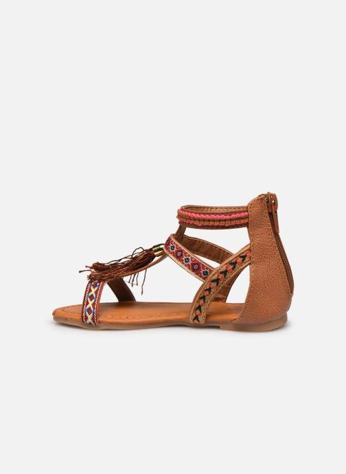 Sandales et nu-pieds NA! Sari Marron vue face