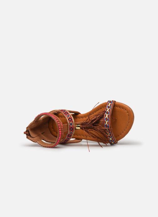Sandales et nu-pieds NA! Sari Marron vue gauche