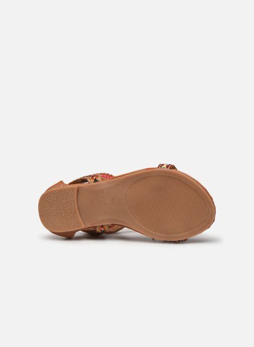 Sandales et nu-pieds NA! Sari Marron vue haut