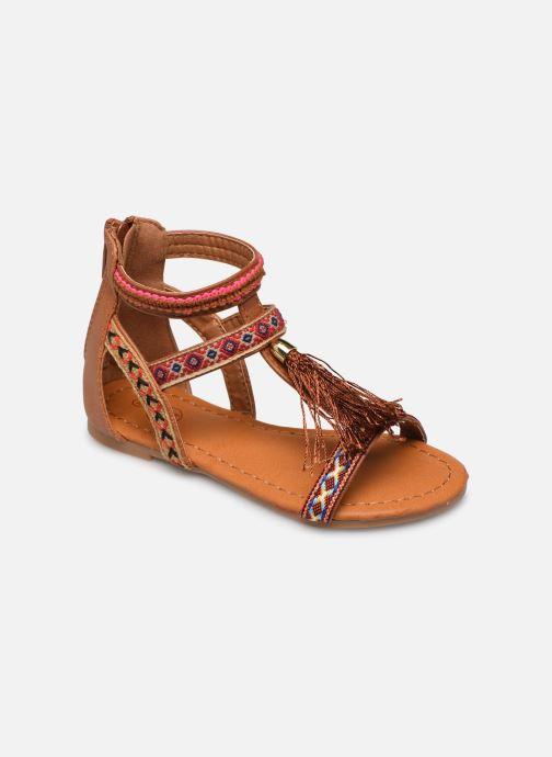 Sandales et nu-pieds NA! Sari Marron vue détail/paire