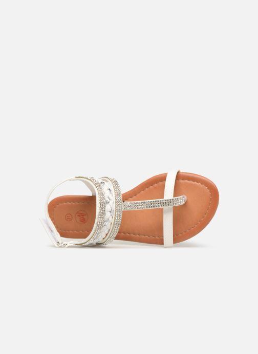 Sandales et nu-pieds NA! Sapeur Blanc vue gauche