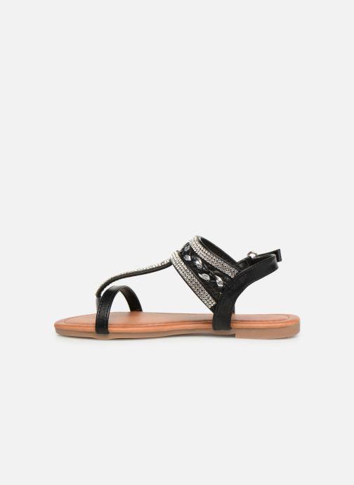 Sandales et nu-pieds NA! Sapeur Noir vue face