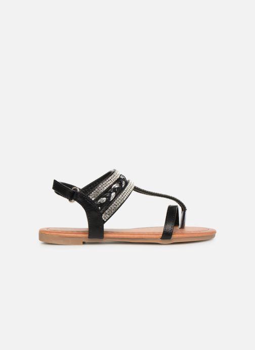 Sandales et nu-pieds NA! Sapeur Noir vue derrière