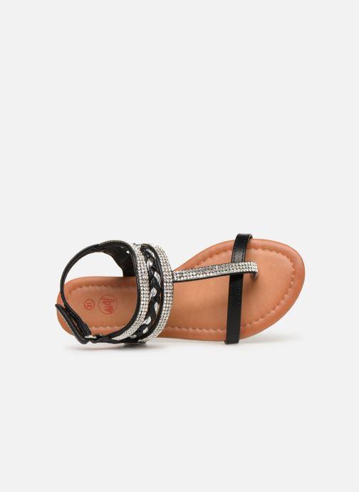 Sandales et nu-pieds NA! Sapeur Noir vue gauche