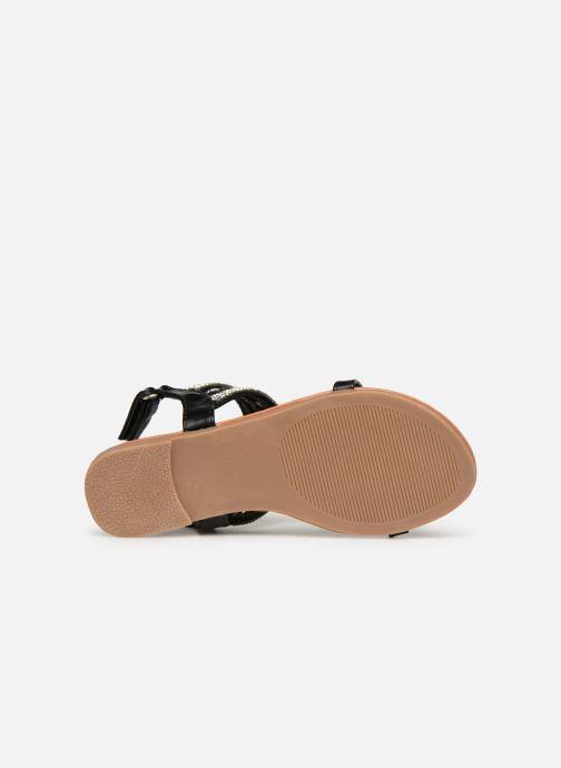 Sandales et nu-pieds NA! Sapeur Noir vue haut