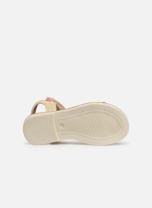 Sandales et nu-pieds NA! Andree Or et bronze vue haut