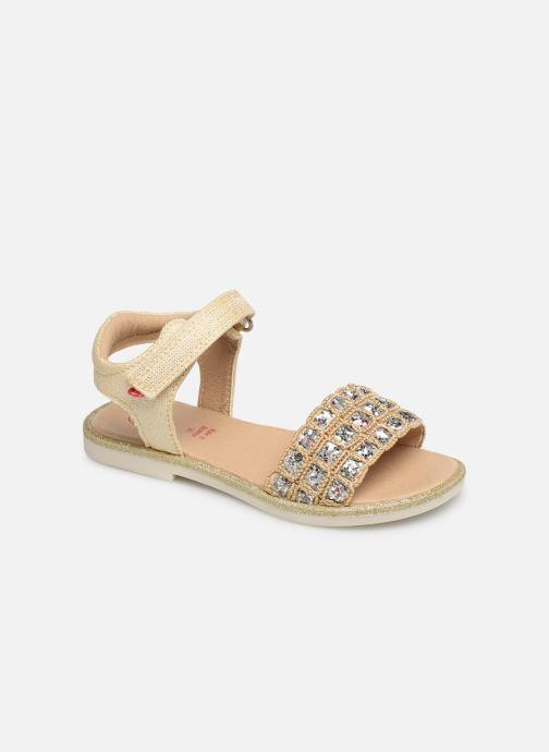 Sandales et nu-pieds NA! Andree Or et bronze vue détail/paire