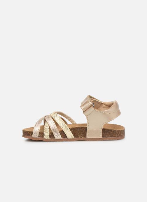 Sandales et nu-pieds NA! Axelle Or et bronze vue face