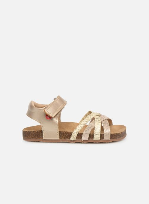 Sandales et nu-pieds NA! Axelle Or et bronze vue derrière