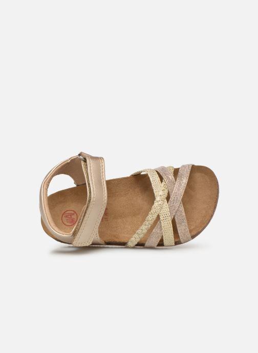 Sandales et nu-pieds NA! Axelle Or et bronze vue gauche