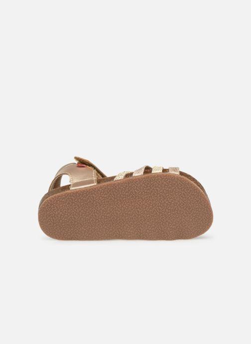 Sandales et nu-pieds NA! Axelle Or et bronze vue haut