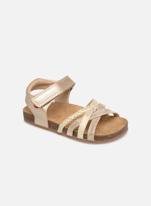 Sandales et nu-pieds NA! Axelle Or et bronze vue détail/paire