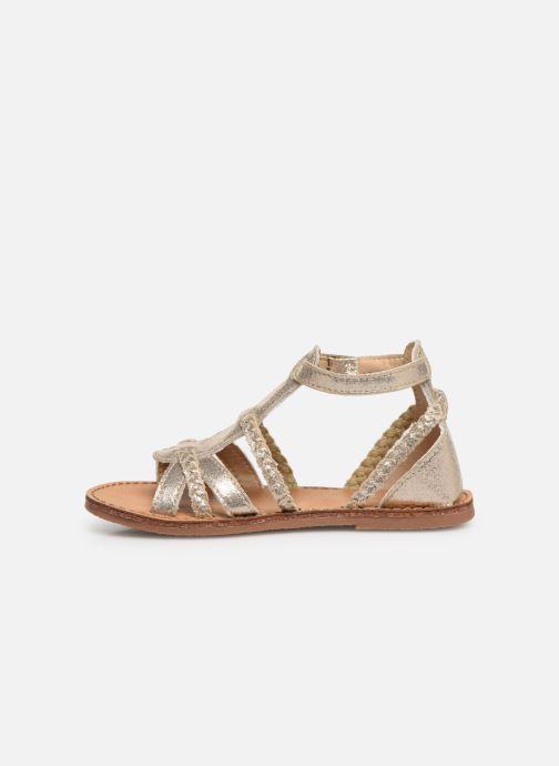 Sandales et nu-pieds NA! Adeline Or et bronze vue face