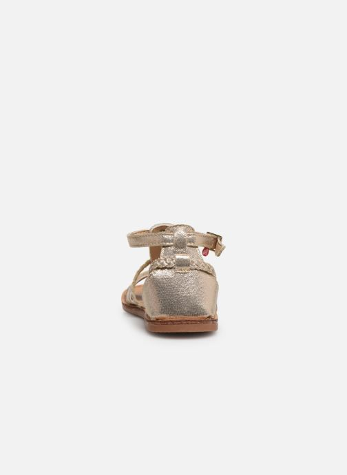 Sandales et nu-pieds NA! Adeline Or et bronze vue droite