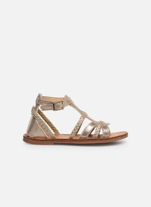 Sandales et nu-pieds NA! Adeline Or et bronze vue derrière