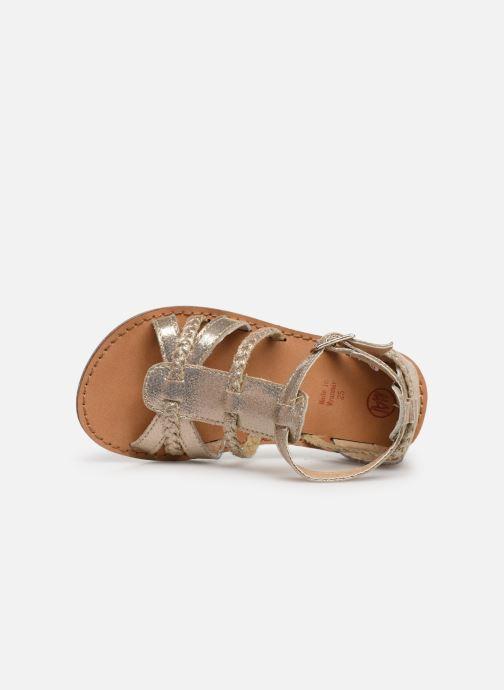 Sandales et nu-pieds NA! Adeline Or et bronze vue gauche