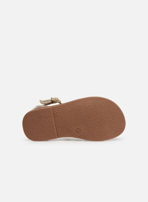 Sandales et nu-pieds NA! Adeline Or et bronze vue haut