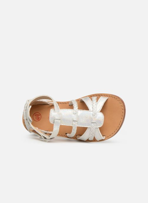 Sandales et nu-pieds NA! Adeline Argent vue gauche