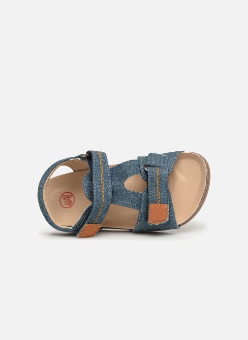 Sandales et nu-pieds NA! Addy Bleu vue gauche