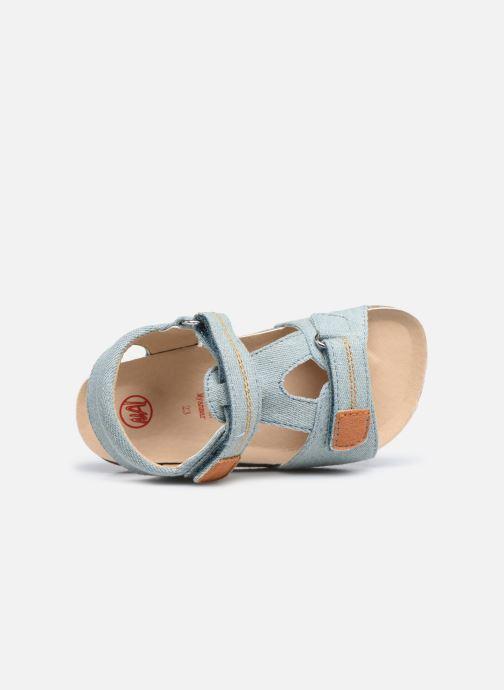 Sandalen NA! Addy blau ansicht von links