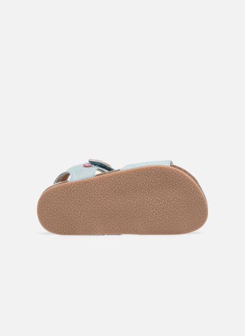 Sandales et nu-pieds NA! Addy Bleu vue haut