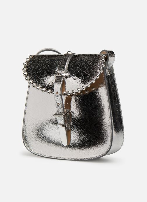 Bolsos de mano Herbert Frère Soeur SAB'ROCK SHINY Plateado vista del modelo