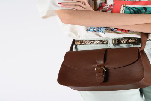 Handbags Herbert Frère Soeur GRAND SAB Brown view from underneath / model view
