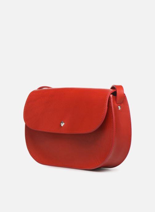 Bolsos de mano Herbert Frère Soeur GRAND KISS Rojo vista del modelo
