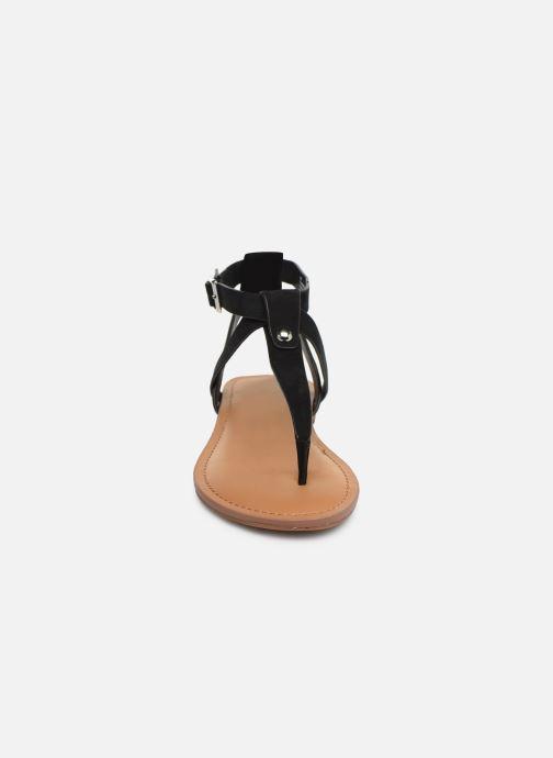 Sandales et nu-pieds Steve Madden HIDDEN Noir vue portées chaussures