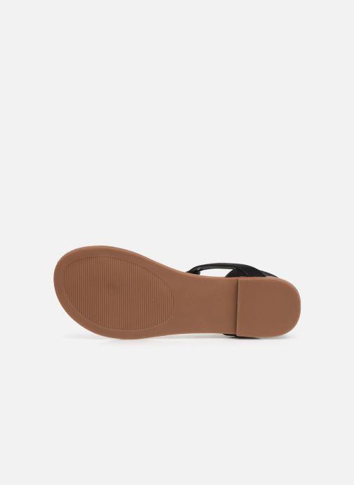 Sandales et nu-pieds Steve Madden HIDDEN Noir vue haut