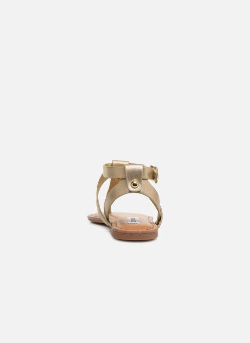 Sandales et nu-pieds Steve Madden HIDDEN Or et bronze vue droite