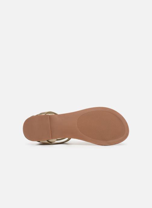 Sandales et nu-pieds Steve Madden HIDDEN Or et bronze vue haut
