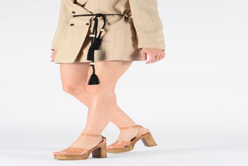 Sandales et nu-pieds Steve Madden LILIANA Marron vue bas / vue portée sac