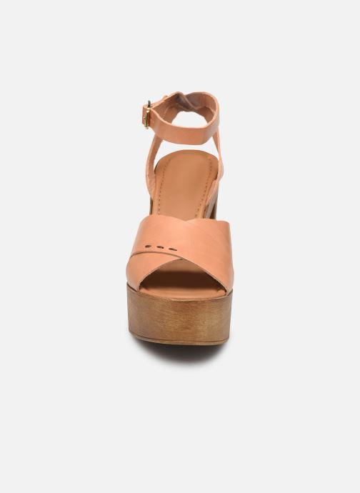 Sandales et nu-pieds Steve Madden LILIANA Marron vue portées chaussures