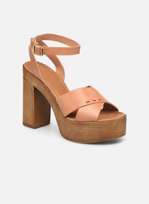Sandales et nu-pieds Steve Madden LILIANA Marron vue détail/paire