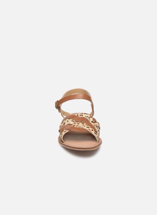 Sandales et nu-pieds Steve Madden OSCAR Marron vue portées chaussures