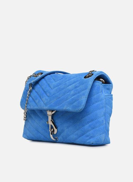 Sacs à main Rebecca Minkoff EDIE XBODY FLUO SUEDE Bleu vue portées chaussures