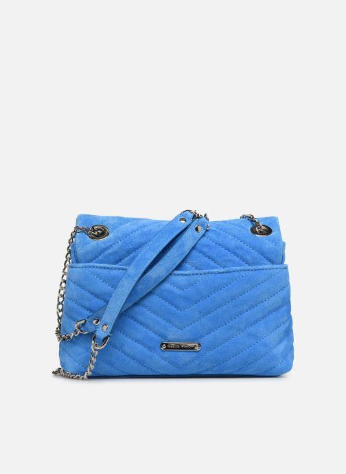 Handtassen Rebecca Minkoff EDIE XBODY FLUO SUEDE Blauw voorkant