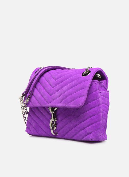 Handbags Rebecca Minkoff EDIE XBODY FLUO SUEDE Purple model view