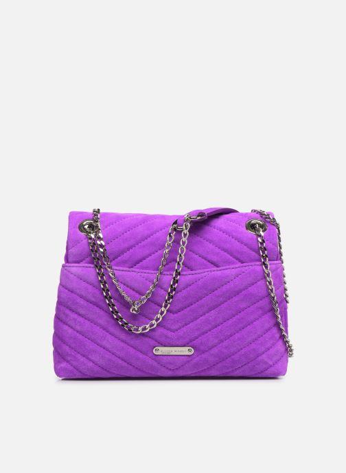 Handbags Rebecca Minkoff EDIE XBODY FLUO SUEDE Purple front view