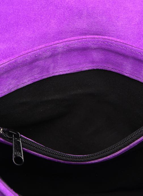 Handbags Rebecca Minkoff EDIE XBODY FLUO SUEDE Purple back view