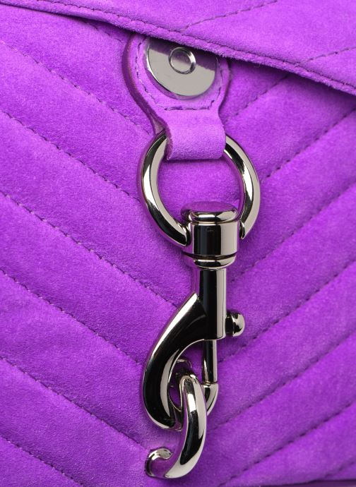 Handbags Rebecca Minkoff EDIE XBODY FLUO SUEDE Purple view from the left