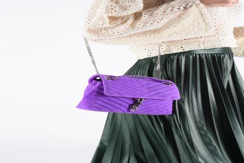 Handbags Rebecca Minkoff EDIE XBODY FLUO SUEDE Purple view from underneath / model view