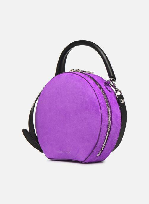 Sacs à main Rebecca Minkoff CIRCLE BAG FLUO SUEDE Violet vue portées chaussures
