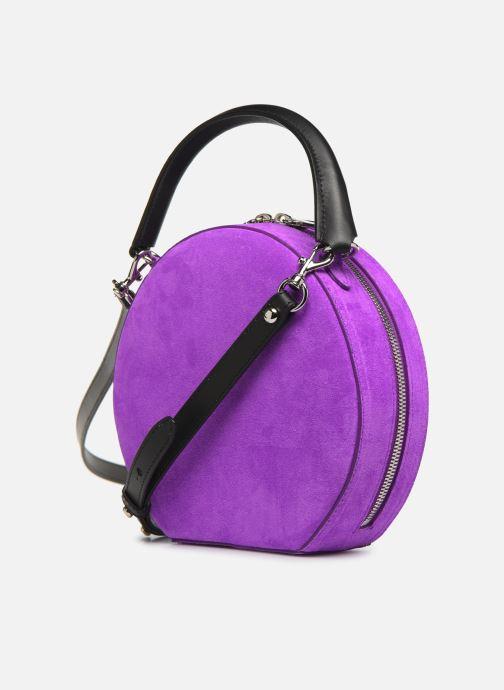 Sacs à main Rebecca Minkoff CIRCLE BAG FLUO SUEDE Violet vue droite