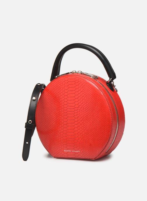 Sacs à main Rebecca Minkoff CIRCLE BAG PYTHON Rouge vue portées chaussures