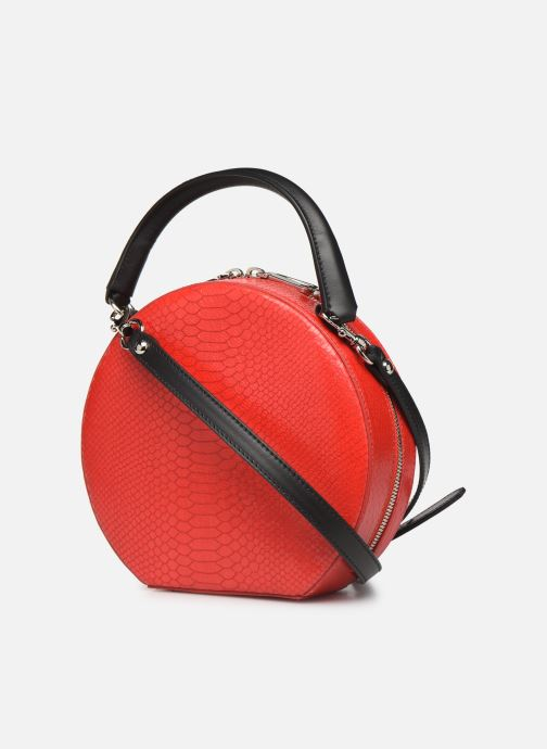 Handbags Rebecca Minkoff CIRCLE BAG PYTHON Red view from the right