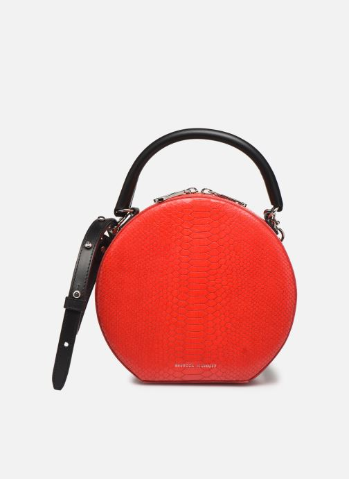 Handbags Rebecca Minkoff CIRCLE BAG PYTHON Red detailed view/ Pair view